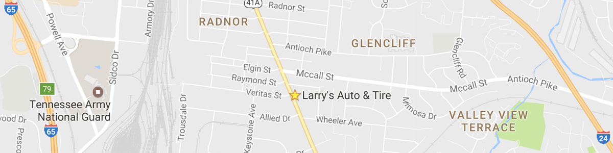 Map to Larry's Auto Repair Nashville